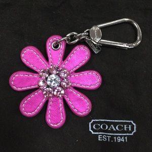 Coach Pink Flower Bag Charm - NWOT